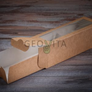 Коробка для макарони (1 ряд) © GEOVITA - Одноразовая посуда от производителя!
