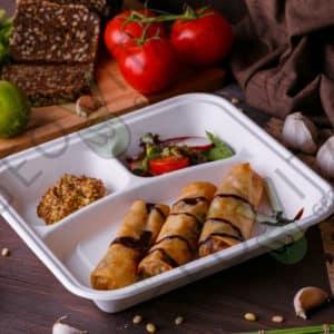 Одноразовый контейнер 3 секции © GEOVITA - Одноразовая посуда от производителя!