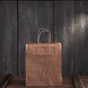 Крафт пакет с ручками 220*120*250 © GEOVITA - Одноразовая посуда от производителя!