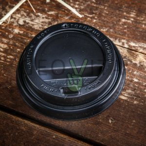 Одноразовая крышка для стакана 250 мл. (с клапаном) © GEOVITA - Одноразовая посуда от производителя!