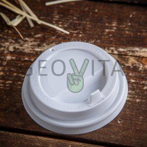 Крышка для стакана 250 мл. (c клапаном) © GEOVITA - Одноразовая посуда от производителя!
