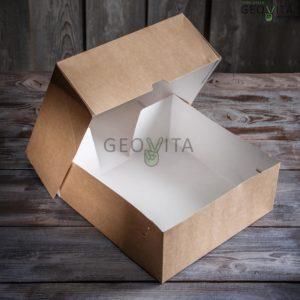 Коробка для торта большая © GEOVITA - Одноразовая посуда от производителя!