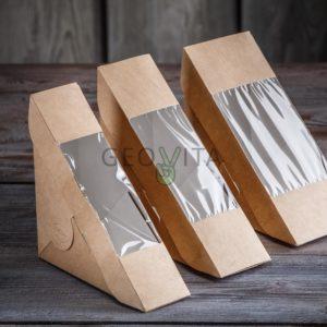 Уголок для сендвича 60 мм. © GEOVITA - Одноразовая посуда от производителя!