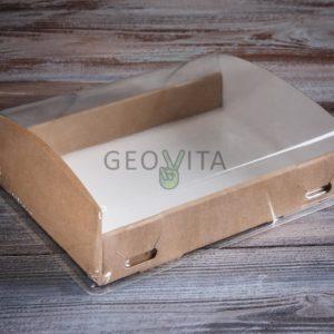 Короб с прозрачной крышкой большой © GEOVITA - Одноразовая посуда от производителя!
