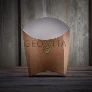 Упаковка для картошки фри М © GEOVITA - Одноразовая посуда от производителя!