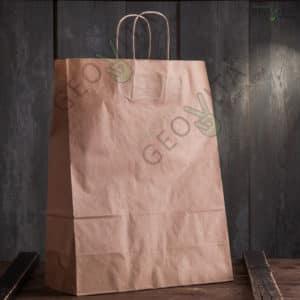 Пакет бумажный 350*150*450 © GEOVITA - Одноразовая посуда от производителя!