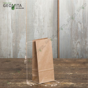 Бумажный мешок 80*50*170 © GEOVITA - Одноразовая посуда от производителя!