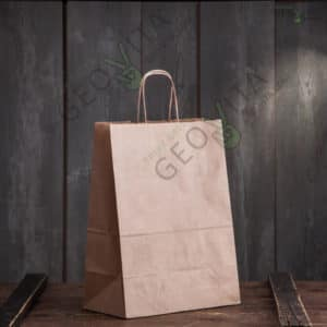 Бумажный пакет 260*150*350 © GEOVITA - Одноразовая посуда от производителя!