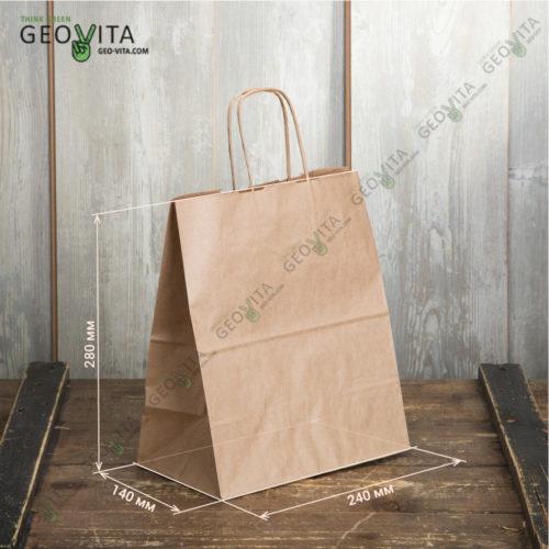 Бумажный пакет с ручками 240*140*280