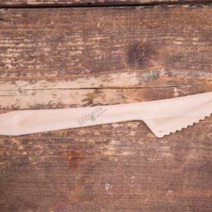 Деревянный нож 165 мм. © GEOVITA - Одноразовая посуда от производителя!