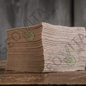 Бумажная салфетка 24*24 1 слойная крафт ПРЕМИУМ © GEOVITA - Одноразовая посуда от производителя!