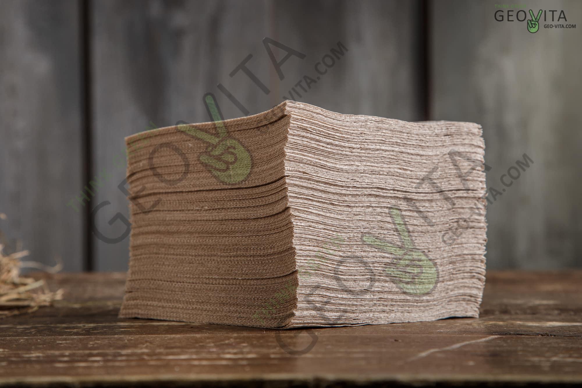 Бумажная салфетка 24*24 1 слойная крафт ПРЕМИУМ
