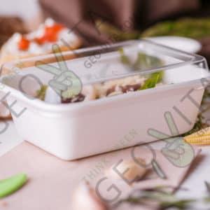 Ланчбокс 400 мл. с крышкой © GEOVITA - Одноразовая посуда от производителя!