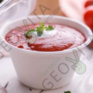 Чаша 350 мл. с крышкой © GEOVITA - Одноразовая посуда от производителя!