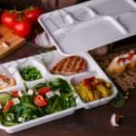 Одноразовый ланч-бокс 5 секций с крышкой © GEOVITA - Одноразовая посуда от производителя!