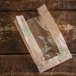 Пакет для пирожка с окном © GEOVITA - Одноразовая посуда от производителя!