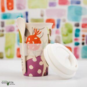 Стакан с ложкой © GEOVITA - Одноразовая посуда от производителя!