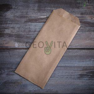 Пакет крафт для приборов © GEOVITA - Одноразовая посуда от производителя!