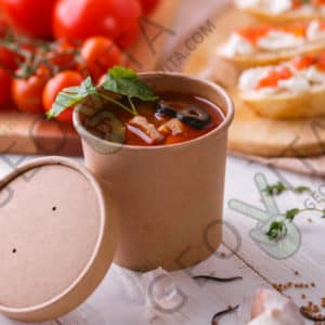 Супница крафт © GEOVITA - Одноразовая посуда от производителя!