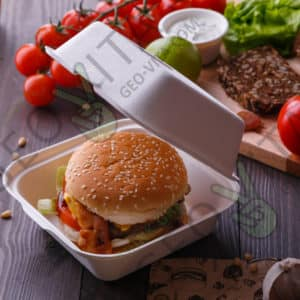 Одноразовый бургер-бокс © GEOVITA - Одноразовая посуда от производителя!
