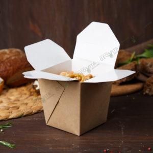 Коробочка для вока малая © GEOVITA - Одноразовая посуда от производителя!