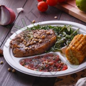 Одноразовая тарелка 3х. секционная © GEOVITA - Одноразовая посуда от производителя!