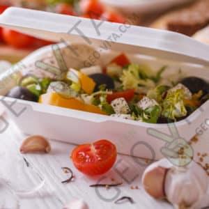 Одноразовый ланч-бокс 600 мл © GEOVITA - Одноразовая посуда от производителя!