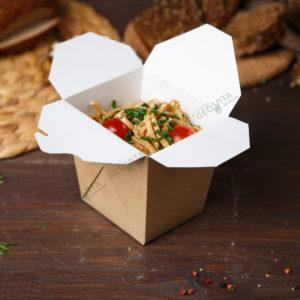 Коробка для лапши большая © GEOVITA - Одноразовая посуда от производителя!