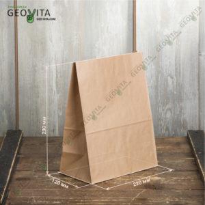Пакет бумажный 220*120*290 © GEOVITA - Одноразовая посуда от производителя!