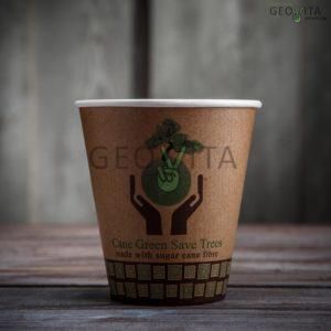 Стакан одноразовый для кофе двухслойный © GEOVITA - Одноразовая посуда от производителя!