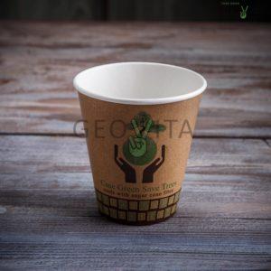 Стаканчик одноразовый двухслойный для горячего © GEOVITA - Одноразовая посуда от производителя!