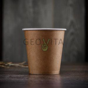 Стаканчик одноразовый для кофе 195 мл. © GEOVITA - Одноразовая посуда от производителя!