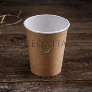 Стакан крафт 350 мл. © GEOVITA - Одноразовая посуда от производителя!