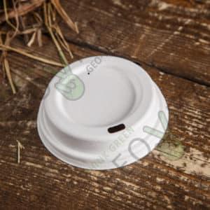 Крышка одноразовая из сахарного тростника © GEOVITA - Одноразовая посуда от производителя!