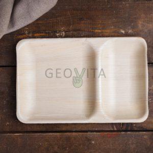 Одноразовый лоток 2-секционный © GEOVITA - Одноразовая посуда от производителя!