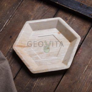 Шестиугольная одноразовая тарелка © GEOVITA - Одноразовая посуда от производителя!