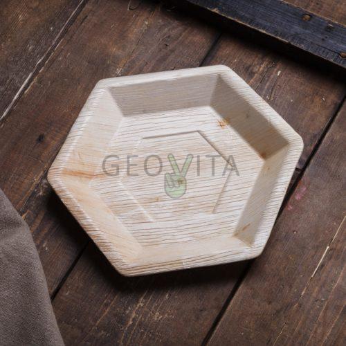 Шестиугольная одноразовая тарелка
