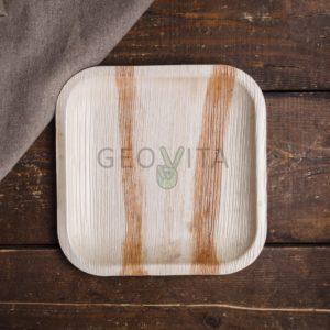 Квадратная одноразовая тарелка малая © GEOVITA - Одноразовая посуда от производителя!