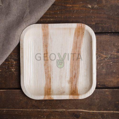 Квадратная одноразовая тарелка малая