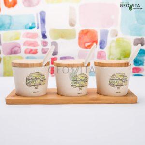 Бамбуковый набор для специй © GEOVITA - Одноразовая посуда от производителя!