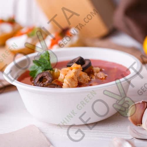 Одноразовая супница (суповая тарелка) 500 мл