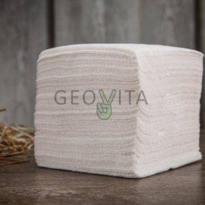 Салфетка 24*24 1 слойная белая ЭКОНОМ © GEOVITA - Одноразовая посуда от производителя!