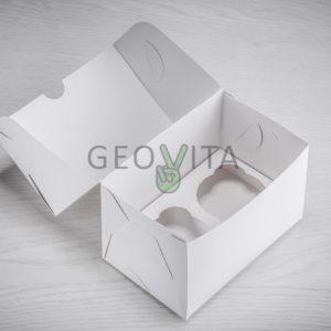 Коробка для капкейков © GEOVITA - Одноразовая посуда от производителя!