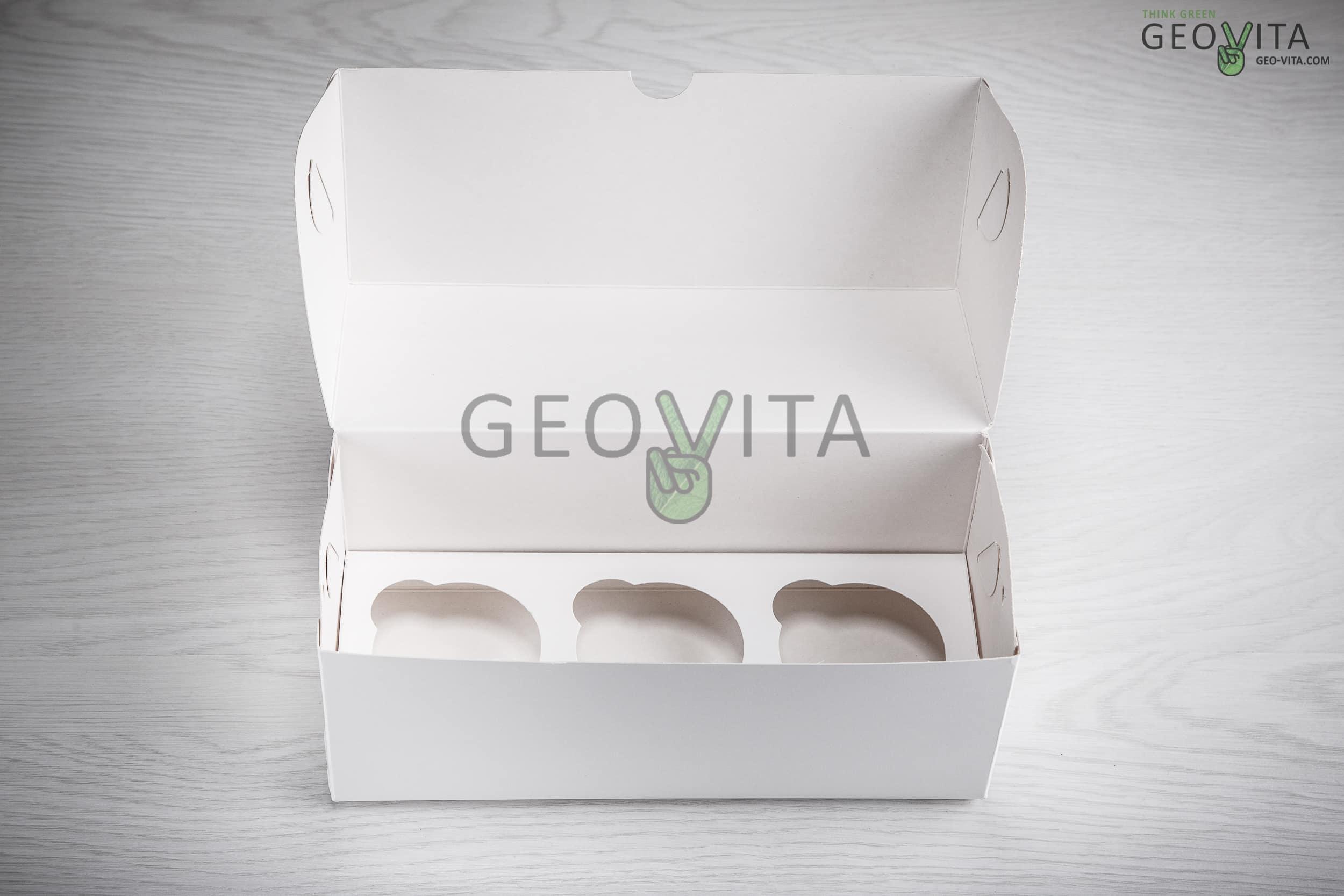 Коробка для 3х. капкейков