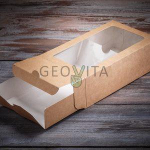 Коробка для макарони (2 ряда) © GEOVITA - Одноразовая посуда от производителя!