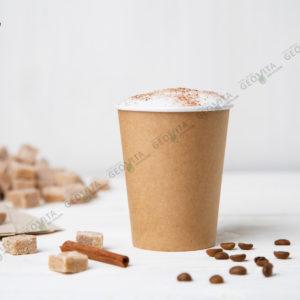 Стакан одноразовый для кофе 250 мл. © GEOVITA - Одноразовая посуда от производителя!