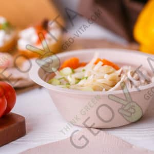 Одноразовая супница (суповая тарелка) 350 мл. © GEOVITA - Одноразовая посуда от производителя!
