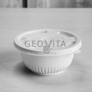 Супница с крышкой 450 мл. © GEOVITA - Одноразовая посуда от производителя!