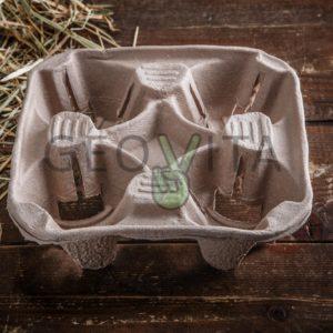 Держатель для 4х. стаканов © GEOVITA - Одноразовая посуда от производителя!