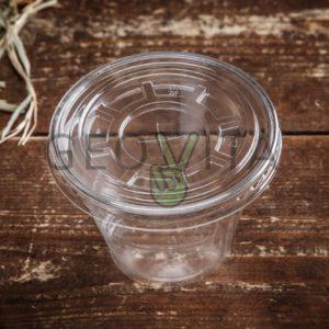 Крышка плоская с дыркой © GEOVITA - Одноразовая посуда от производителя!